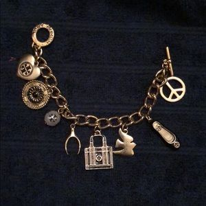 Authentic Sold Out Tory Burch Charm Bracelet